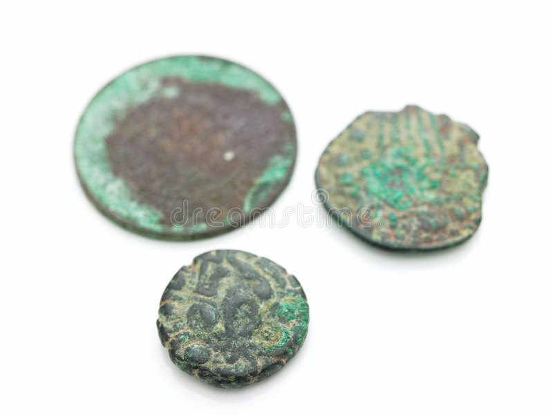 stare antyczne monety fotografia royalty free