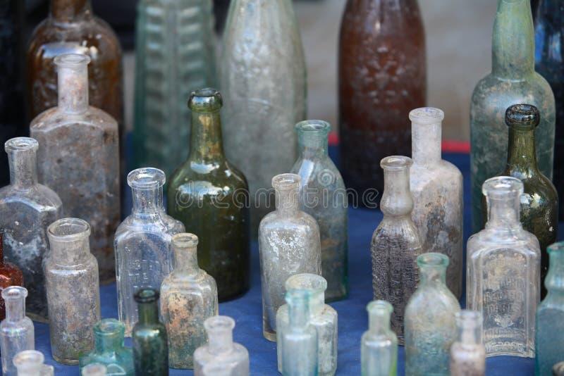 stare butelki obrazy royalty free