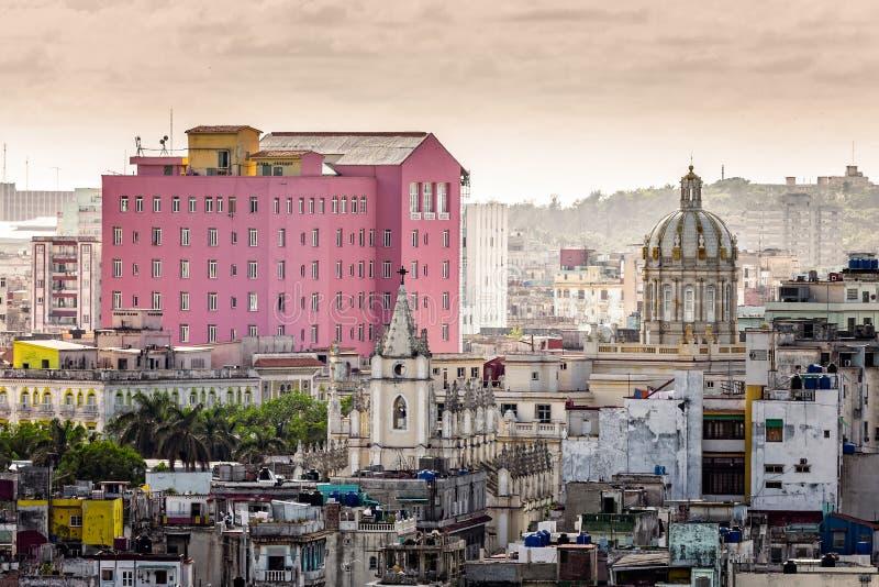 Stare centrum miasta ulicy, budynki Hawańscy i, obrazy royalty free