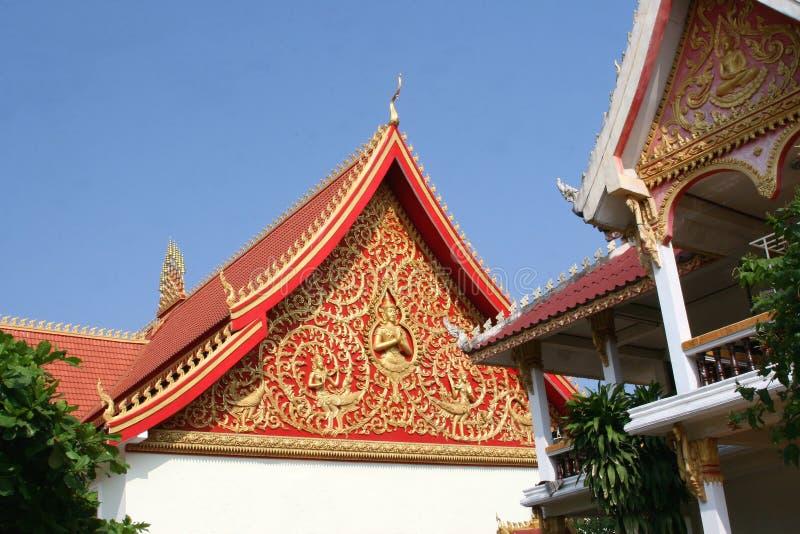 Stare dekoracje w świątynnym Wacie Sisaket, Vientiane obrazy stock