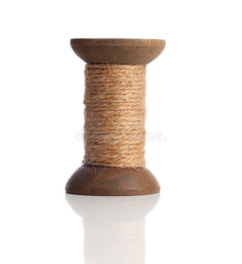 Stare drewniane bobiny nić, rocznik zdjęcie stock