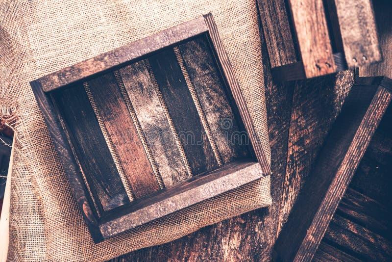 Stare Drewniane skrzynki zdjęcia royalty free