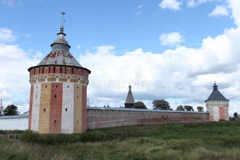 Stare fortecy wierza ściany obrazy stock