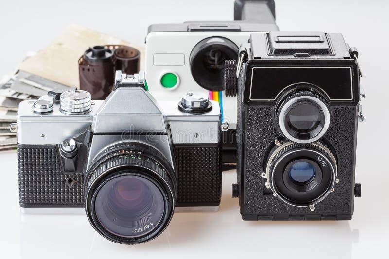Stare fotografie i kamery zdjęcie royalty free