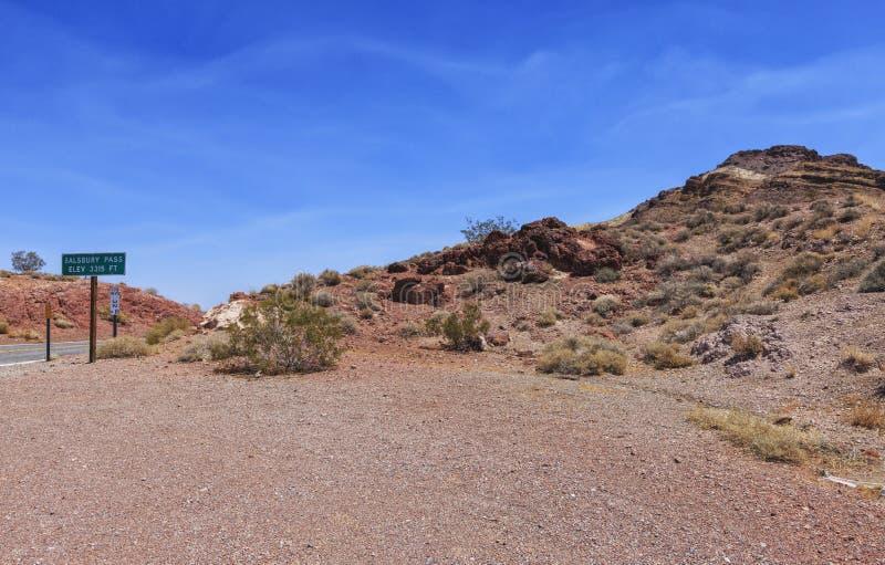 Stare hiszpańszczyzny wlec Śmiertelna dolina, usa zdjęcie royalty free