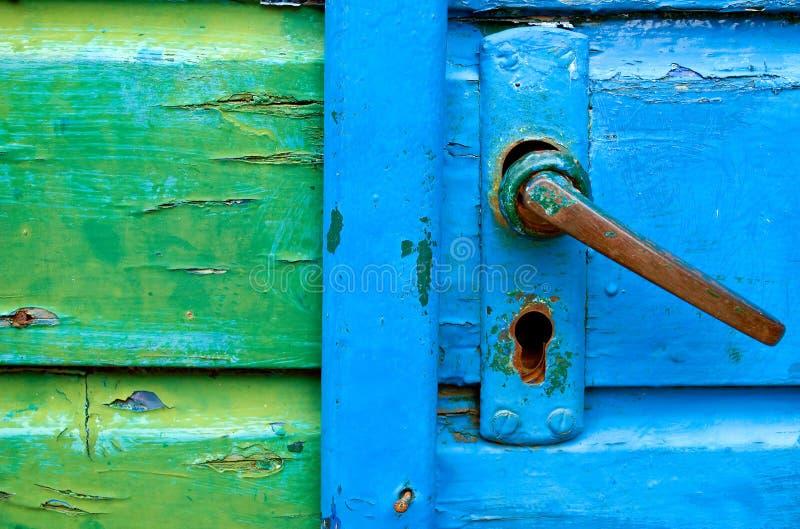 stare klamki drzwi zdjęcie stock