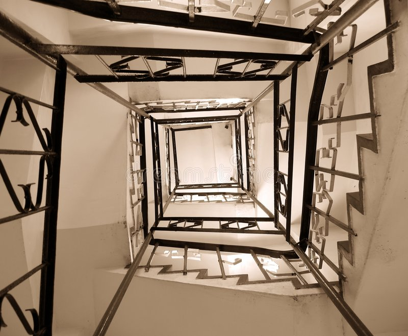 stare klatki schodowej likwidacja obraz stock