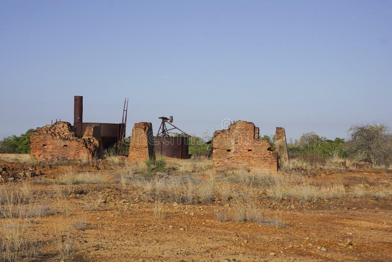 Stare kopalni złota ruiny obraz stock