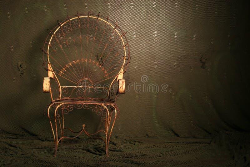 stare krzesło metalu obrazy stock