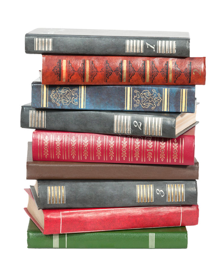 Stare książki w stosie obraz royalty free