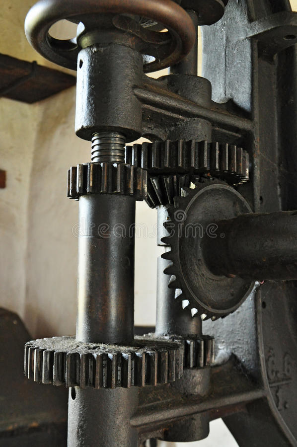 Stare mechanizmu metalu przekładnie obraz royalty free