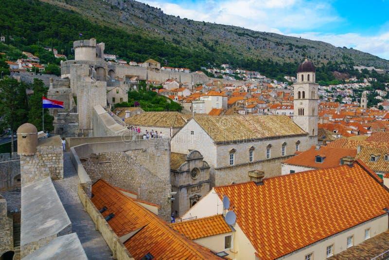 Stare miasto ściany, Dubrovnik obraz stock