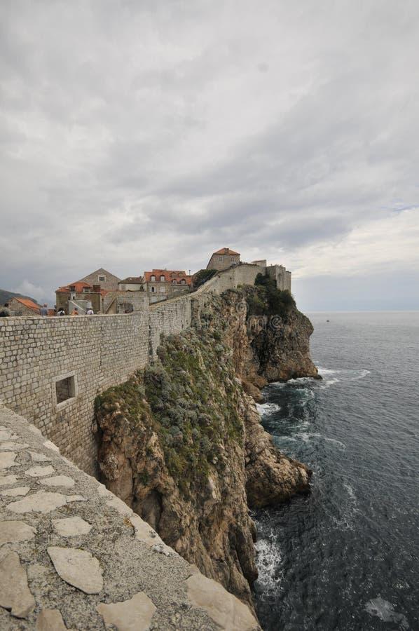 Stare miasto ściany, Dubrovnik, Chorwacja fotografia royalty free