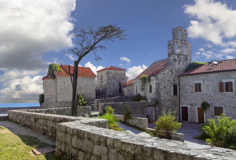 stare miasto Budva Montenegro obraz stock