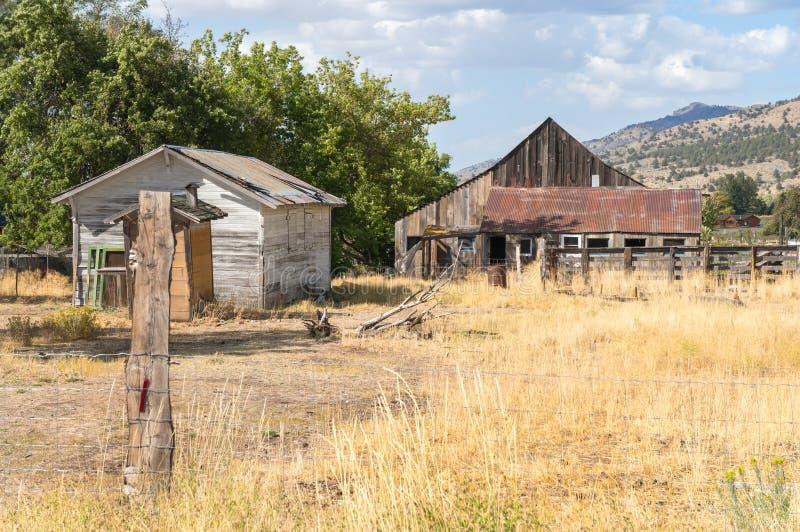 Stare oficyny w wiejski Północny Kalifornia zdjęcia royalty free