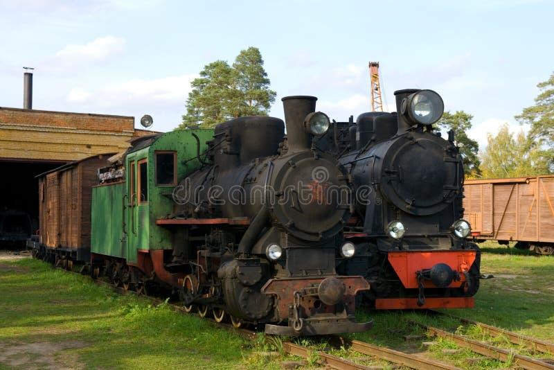 stare pary pociągów zdjęcia royalty free