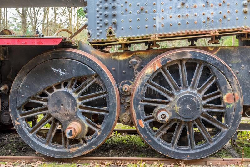 stare pociągi kół obraz stock