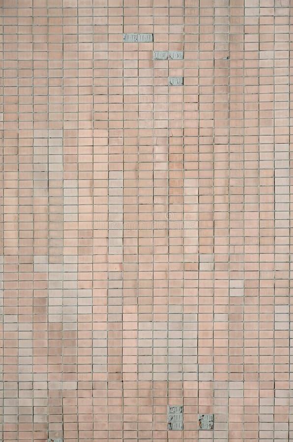 Stare Radzieckie beż ściany płytki Tekstura klasyczny zewnętrzny obrazy stock