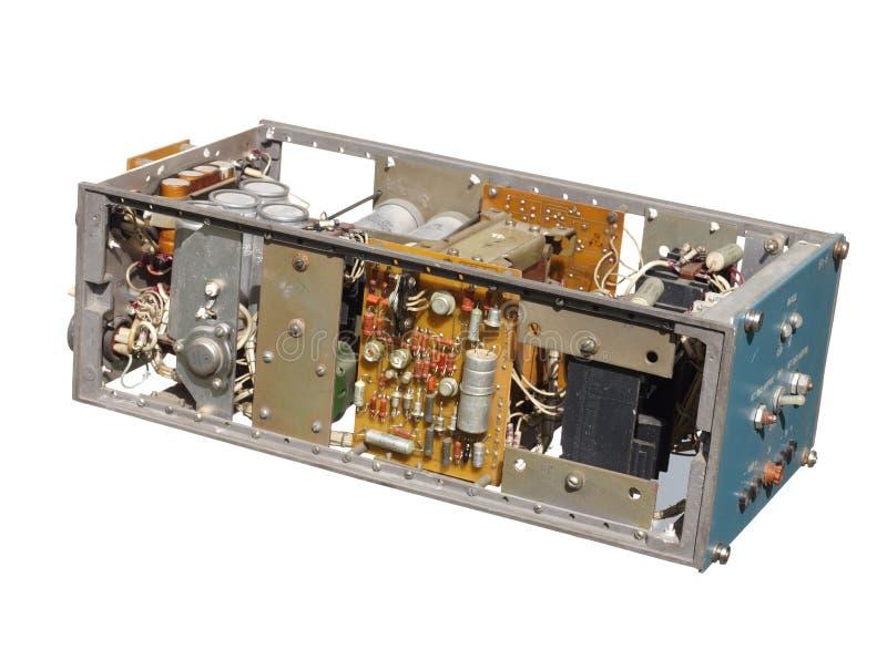 Stare Radzieckie elektronika, źródło zasilania jednostka zdjęcia stock