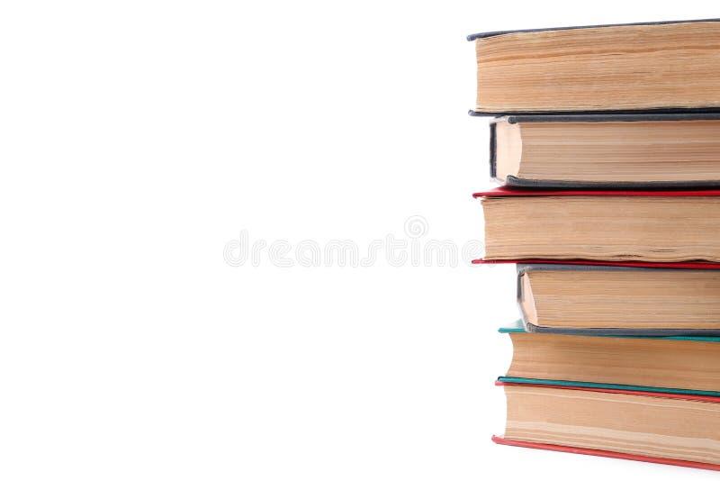 Stare rocznik książki odizolowywać na białym tle obrazy stock