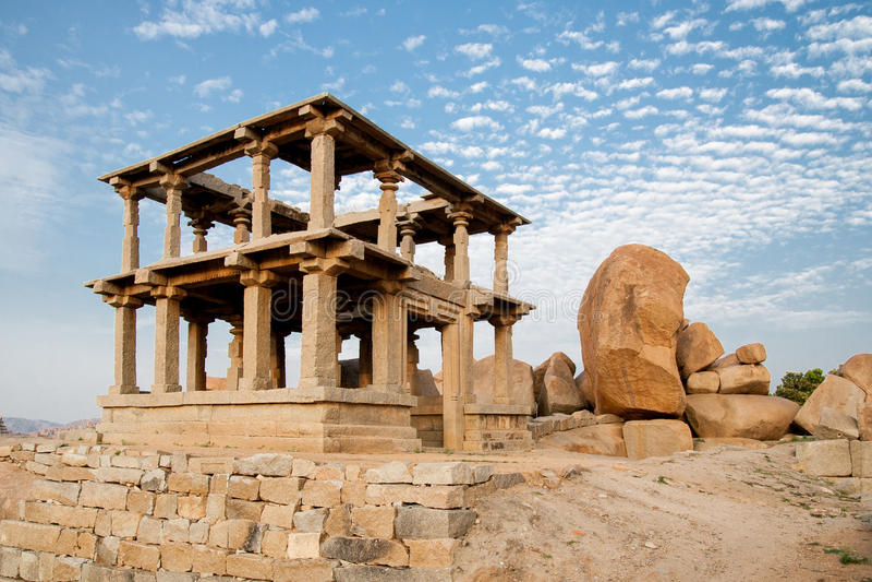 Stare ruiny hampi w ind obrazy royalty free