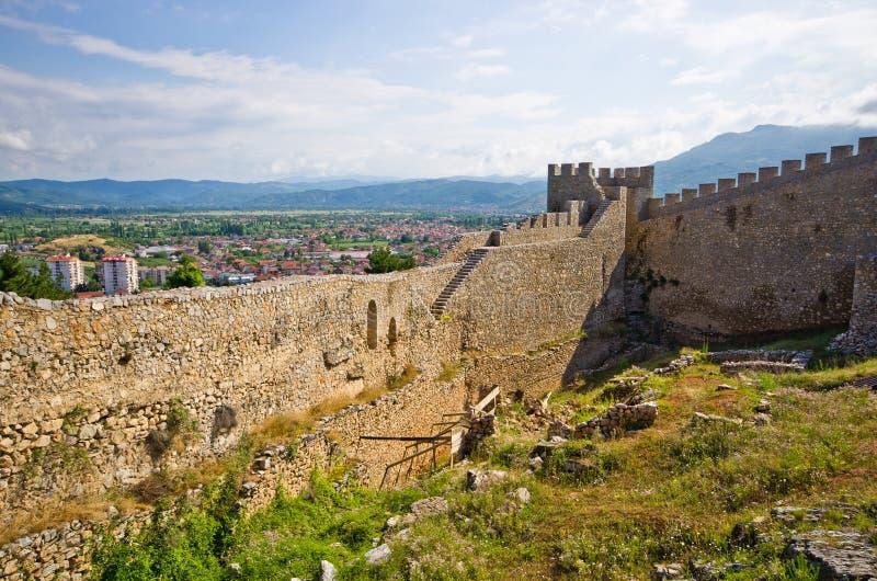 Stare ruiny kasztel w Ohrid, Macedonia fotografia royalty free