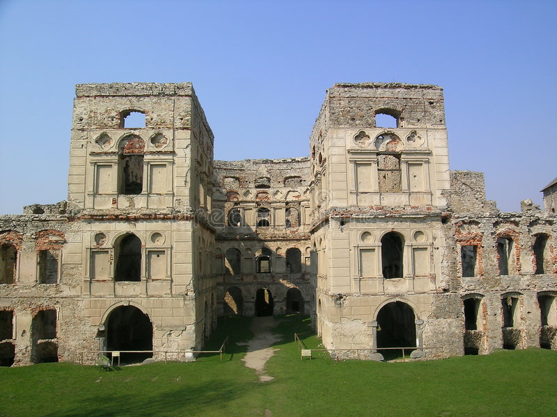 stare ruiny z zamku obraz royalty free
