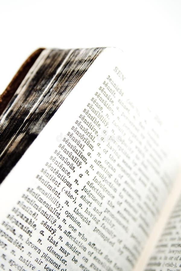 Stare słownik serie zdjęcie royalty free