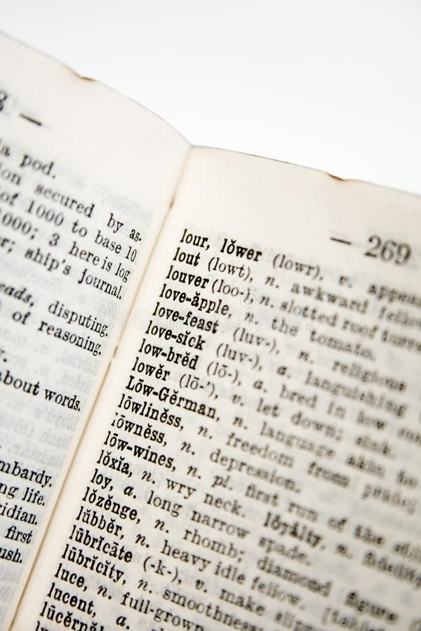 Stare słownik serie obraz royalty free
