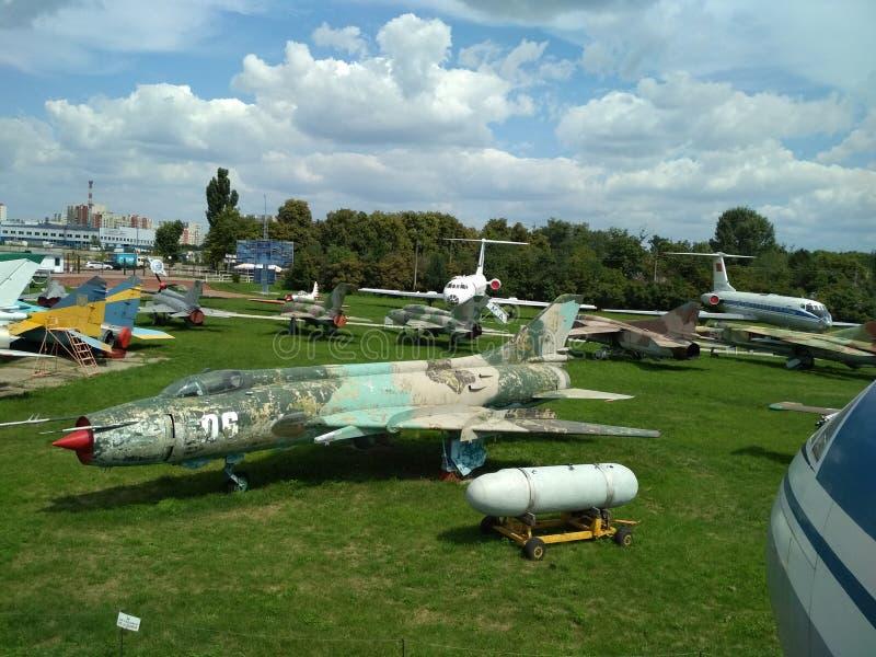 Stare samoloty wojskowe fotografia stock