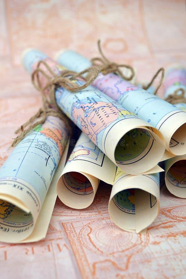 Stare staczać się mapy fotografia royalty free