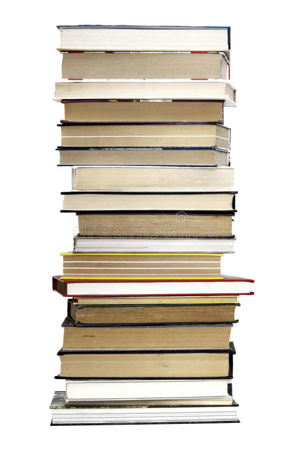 stare stosu książek obraz royalty free