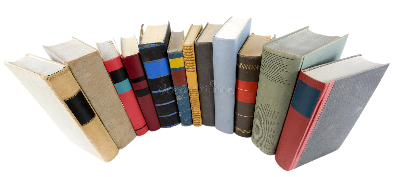 stare stosu książek zdjęcie stock