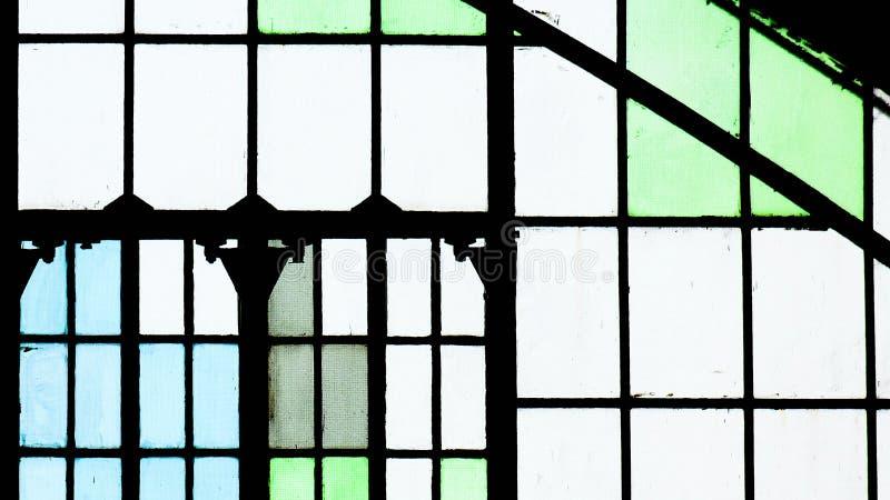 Stare szkÅ'o z plamÄ… w oknie zdjęcia stock