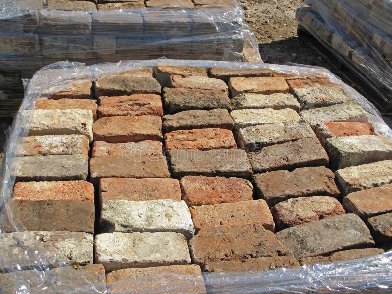 Stare Używać cegły zdjęcie royalty free