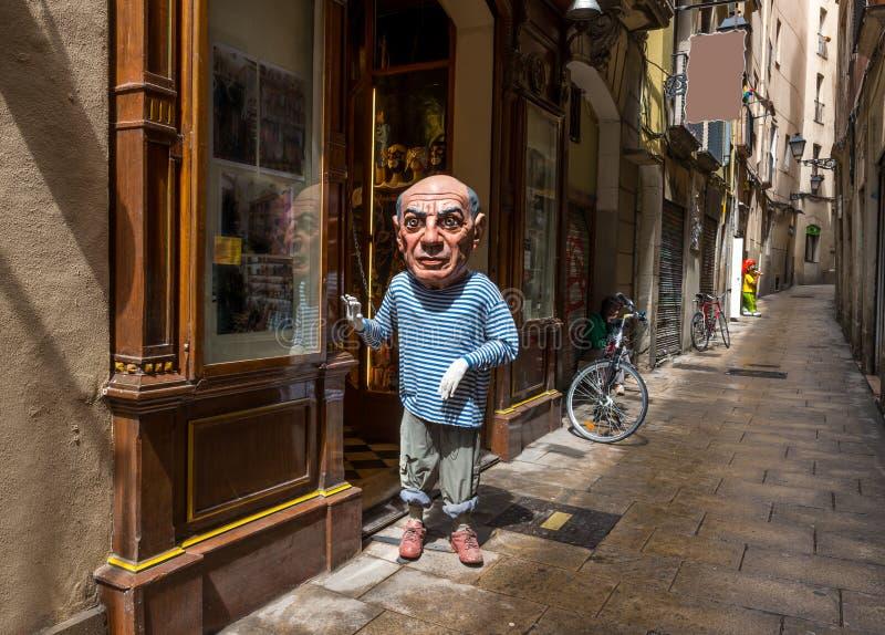 Stare ulicy dzielnica Gotico w Barcelona zdjęcie stock