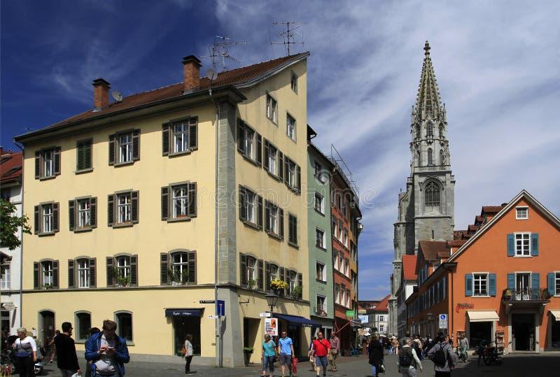 stare ulicy w miasteczku Konstanz zdjęcia royalty free