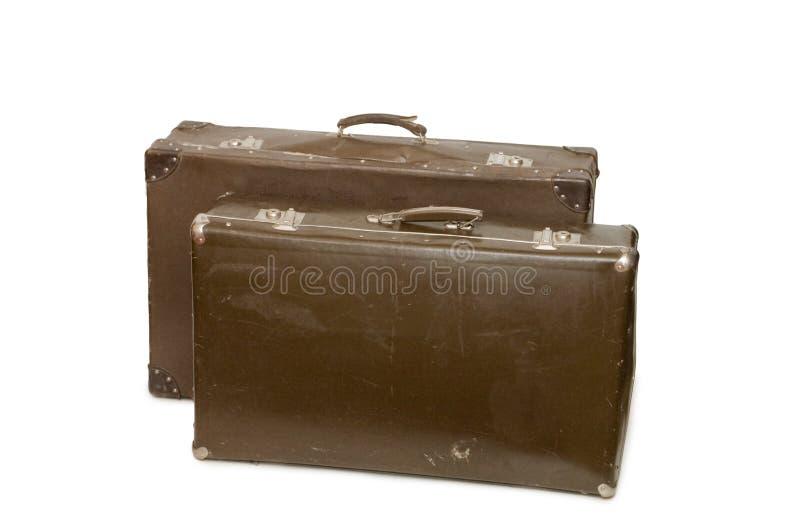Download Stare walizki dwa obraz stock. Obraz złożonej z antyk - 12200383