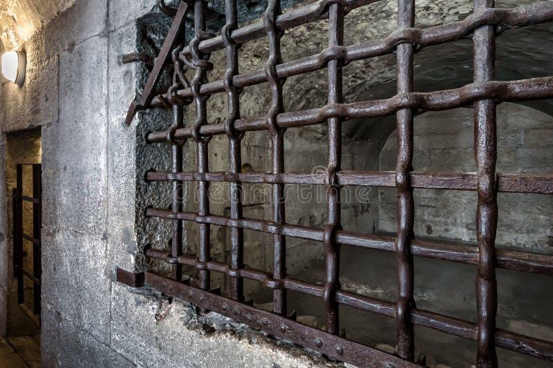 Stare więzienie w Pałacu Pałacowym Palazzo Ducale To słynna atrakcja turystyczna Wenecji, Włochy zdjęcie stock