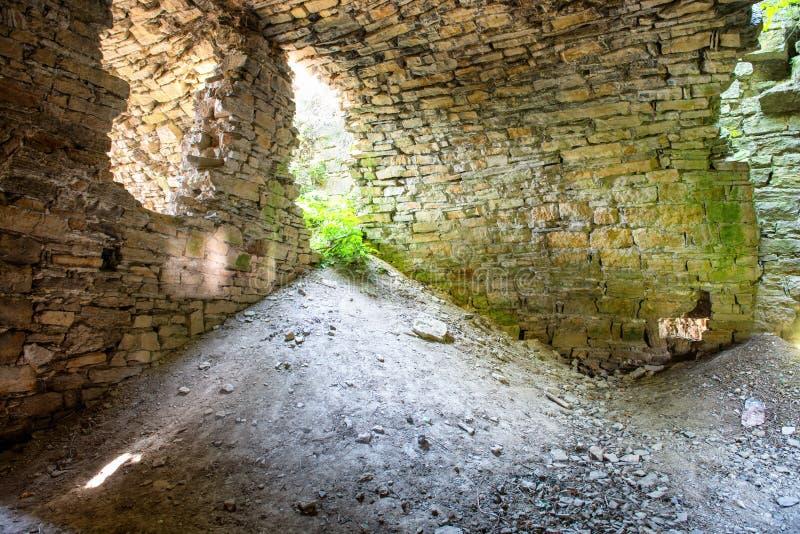 Stare zaniechane ruiny fotografia royalty free