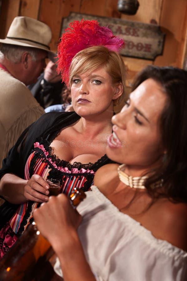 starego ładnego baru zachodni kobiety obraz stock