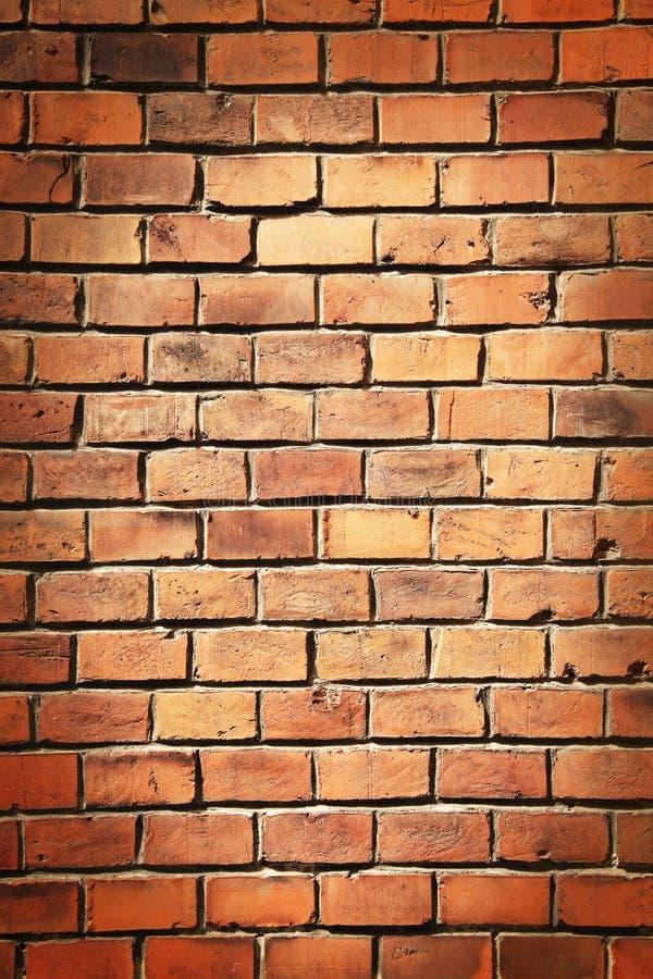 Starego ściana z cegieł tła architektoniczna tekstura z miejscem dla t fotografia stock