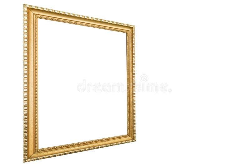 Starego antykwarskiego rocznika obrazka ośniedziała złota rama zdjęcia royalty free