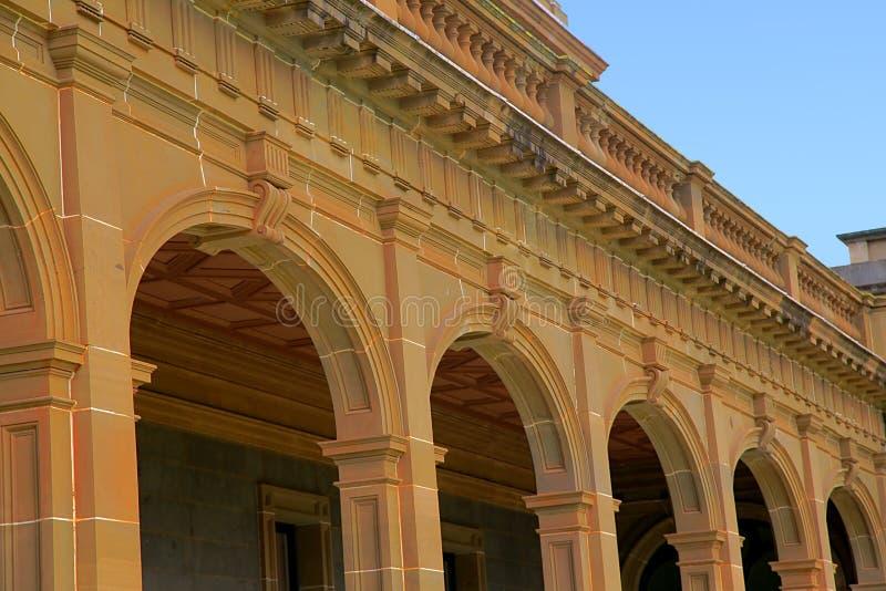 Starego budynku architektoniczny szczegół fotografia royalty free