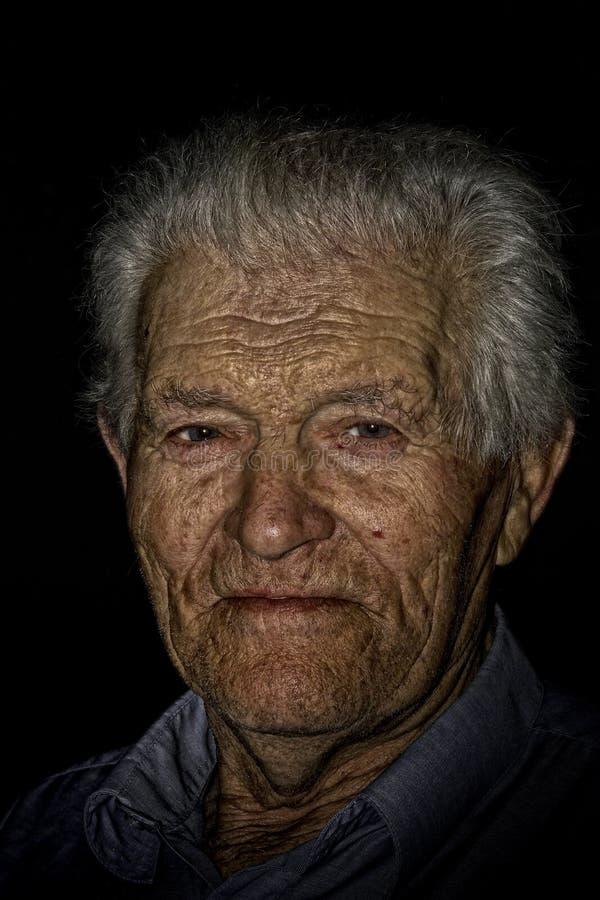 Starego człowieka portret zdjęcia royalty free