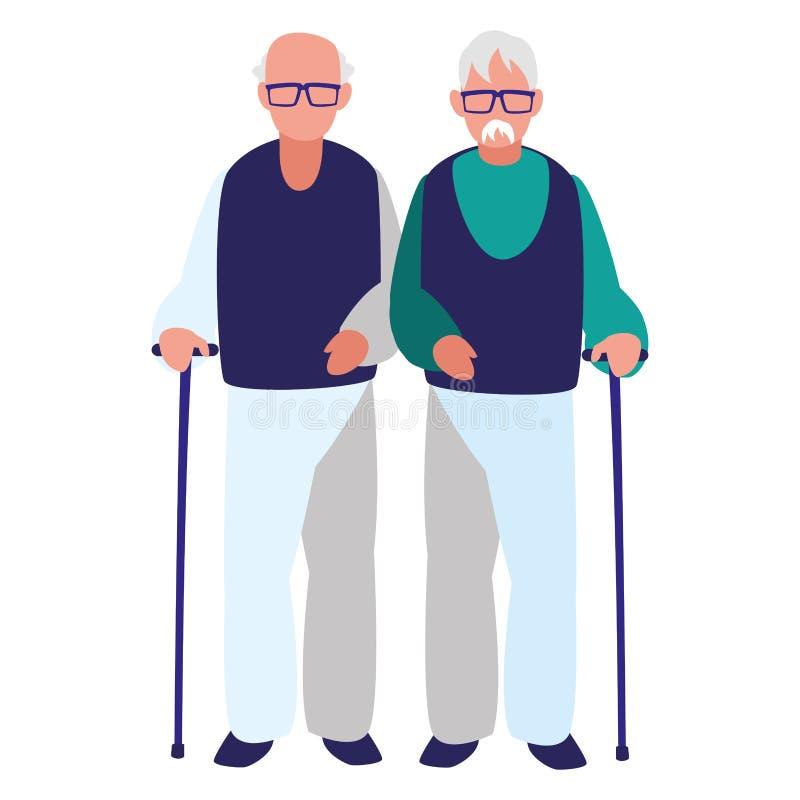 Starego człowieka projekt ilustracji