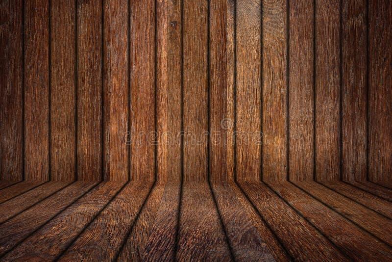 Starego dębu pusty drewniany pokój zdjęcie royalty free