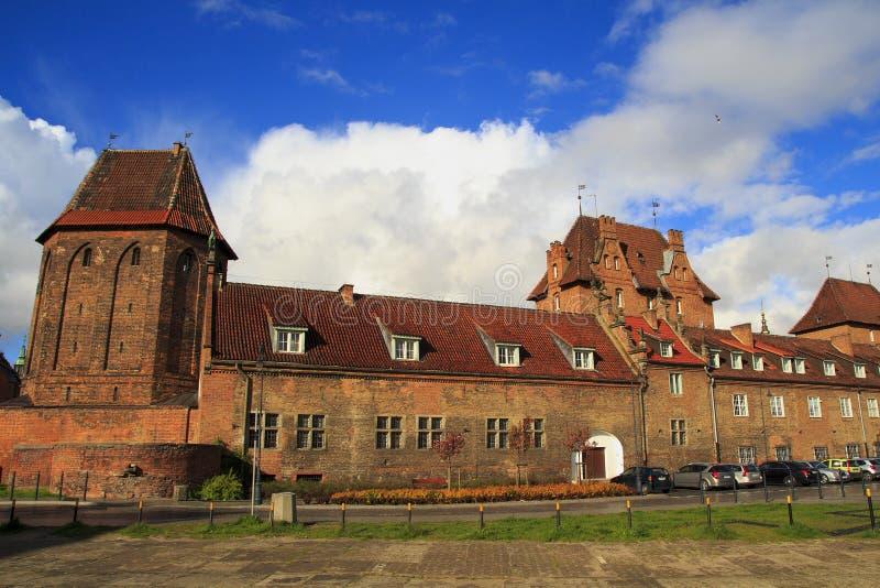Starego domowego ftom czerwona cegła w Gdańskim obraz stock