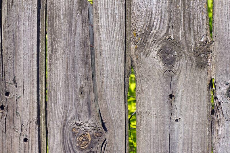 Starego drewnianego ogrodzenia popielaty kolor zdjęcie stock
