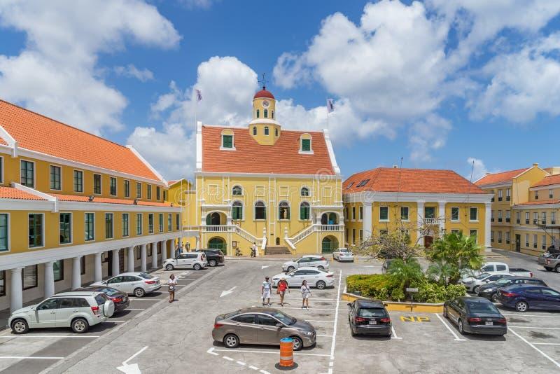 Starego fortu Punda Curacao Kościelni widoki obrazy royalty free